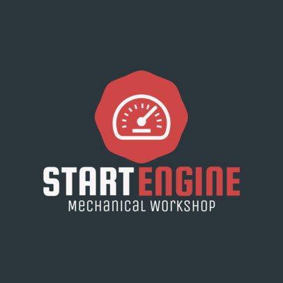 Online Logo Maker for a Car Workshop 1407e 77-el