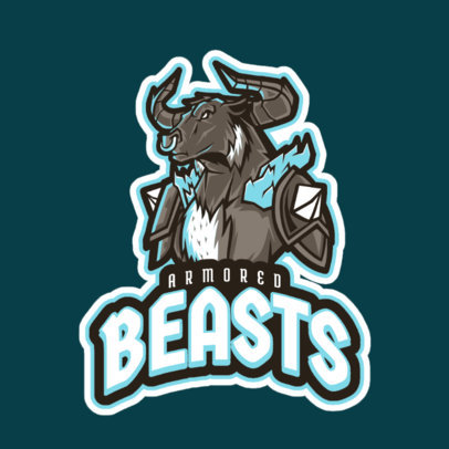 LoL-Inspired Logo Design Maker with a Beast Champion Character 2619f