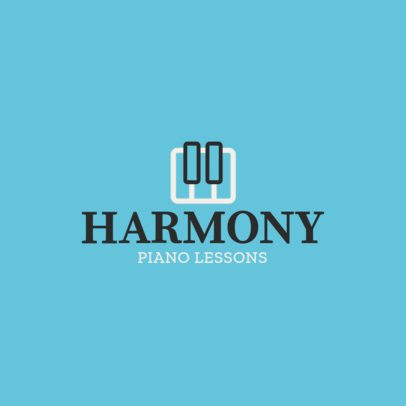 Online Logo Maker for Piano Schools 1308g 19-el