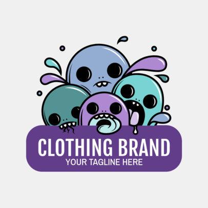 Santa Cruz-Inspired Logo Maker for a Streetwear Clothing Brand 2606