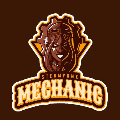 LOL-Themed Logo Creator with a Female Steampunk Character 2619l