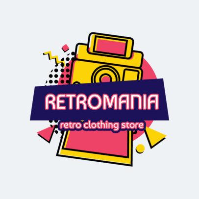 Retro Logo Maker with a Vintage Instant Camera Illustration 2615a