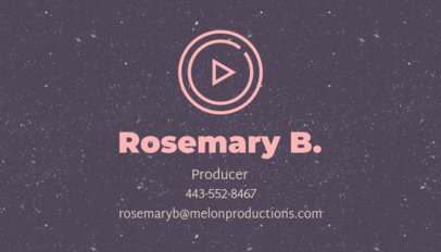 Video Producer Business Card Design Template 207g 52-el