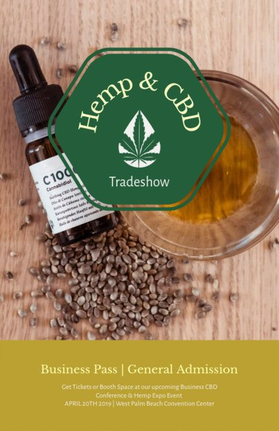 Cannabis-Themed Flyer Maker for a Hemp and CDB Trade Show 1893c
