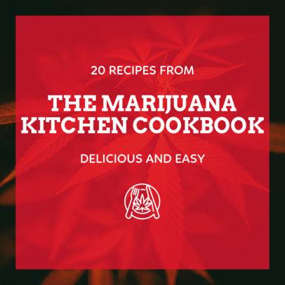 Instagram Post Template with Marijuana Recipes 1891b