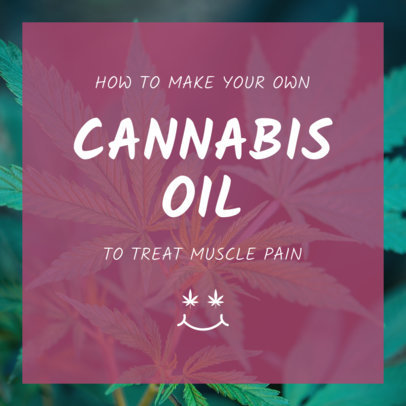 Cannabis Oil Instagram Post Maker 1891c