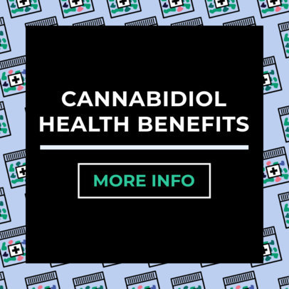 Ad Banner Template for a Marijuana Health Benefits Post 1896c