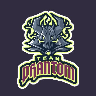 LOL-Themed Logo Template Featuring a Phantom Illustration 2619o