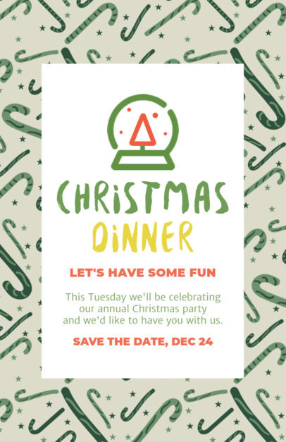 Online Flyer Template for a Christmas Dinner Party 59-el