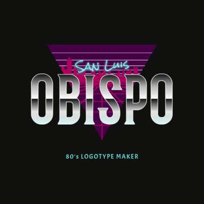 Logo Creator with a Retro Synthwave Style 2616c