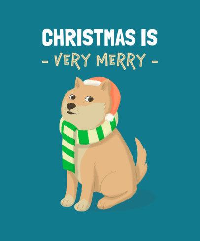 Christmas T-Shirt Creator Featuring a Meme Dog 1879h