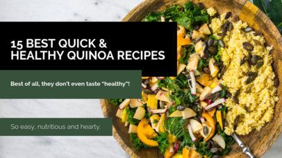 YouTube Thumbnail Design Template for a Quinoa Recipes Video 901l-1939