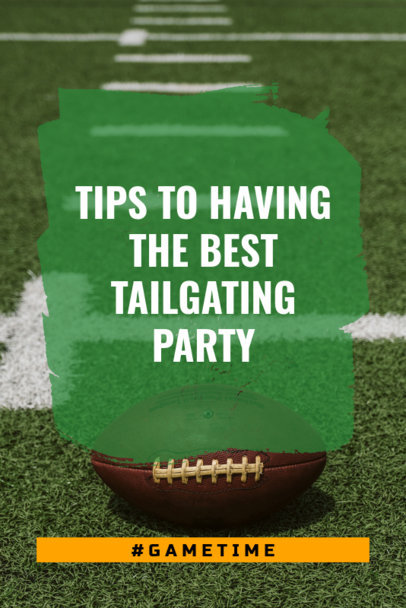 Football Pinterest Pin Template with Tips for a Tailgate Party 627i-1935