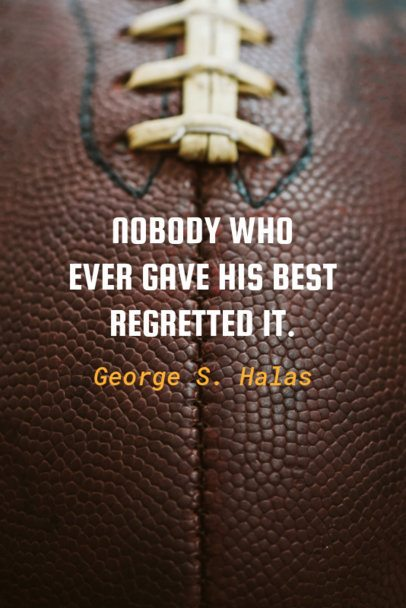 Pinterest Pin Generator with a Football Quote 627j-1935