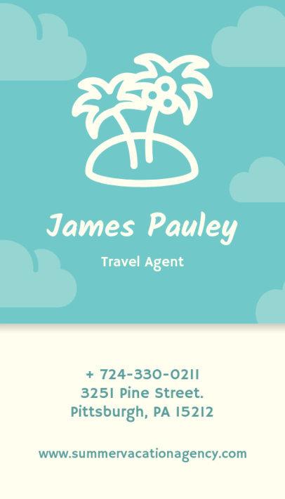Travel Agent Business Card Design Template 338f 80-el