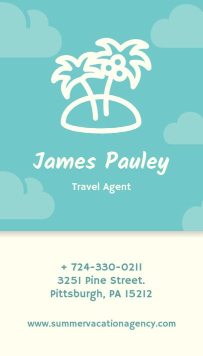Travel Agent Business Card Design Template 338f 80-el