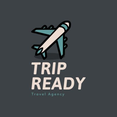 Travel Agency Online Logo Maker Featuring Airplane Clipart 2504k 80-el
