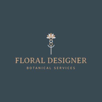 Online Logo Generator for Floral Designers 1166g 86-el