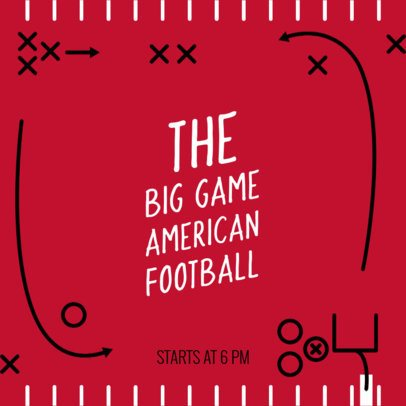 Facebook Post Template for the Football Big Game 537k-1932