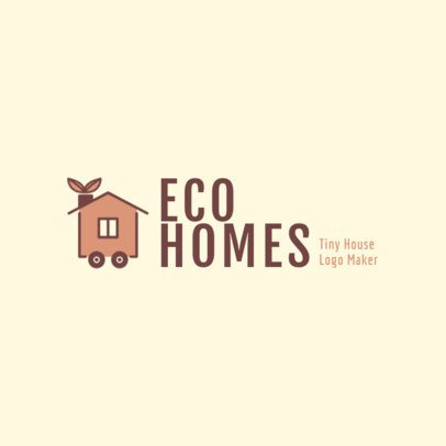 Real Estate Logo Maker for Ecological Homes 2630c