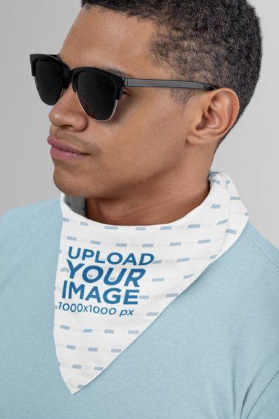 Bandana Mockup of a Man with Sunglasses 29594