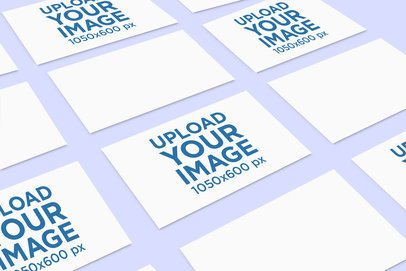 Mockup of a Set of Business Cards Spread Geometrically 757-el