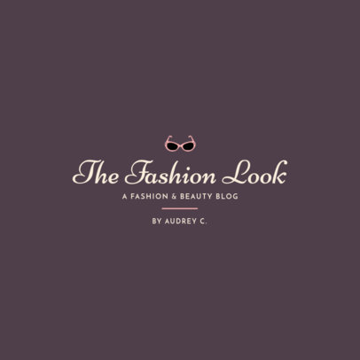 Beauty Logo Template for a Fashion Blog 1408i 48-el