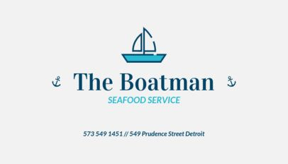 Business Card Design Maker for a Seafood Catering Service 122f 82-el