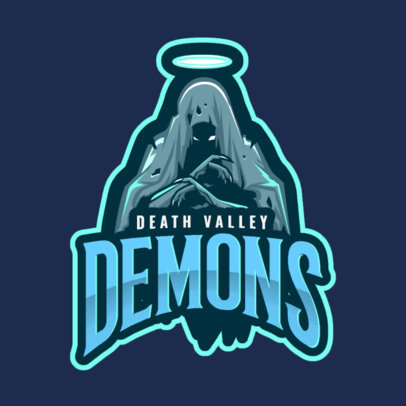 Logo Generator Featuring a Deathly Demon 2633a