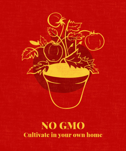 T-Shirt Design Maker for a Sustainability Lifestyle Featuring Home-Grown Tomatoes 1922c
