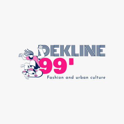 Logo Design Template for a Streetwear Line Inspired in Santa Cruz 2626b