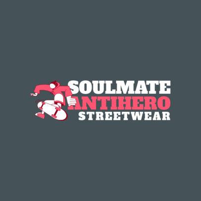 Santa Cruz-Styled Logo Design Maker for a Streetwear Line 2626d