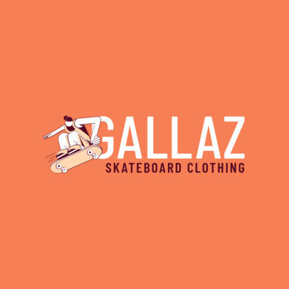 Skateboard Clothing Logo Design Maker Inspired in Santa Cruz 2626g