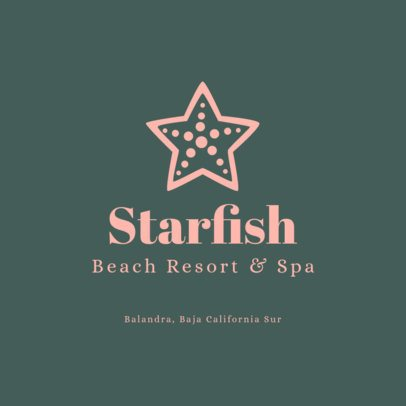 Beach Resort & SPA Logo Generator Featuring a Starfish Graphic 1761h 83-el