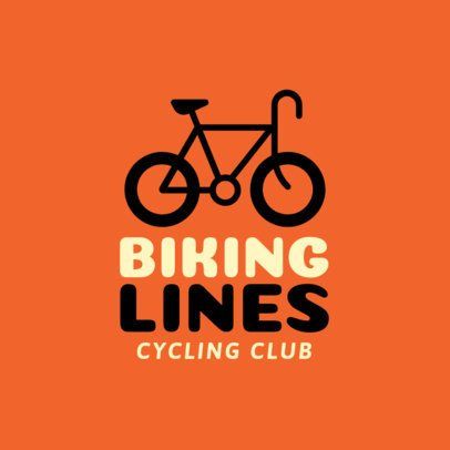 Simple Online Logo Generator for a Biking Club 1571f 62-el