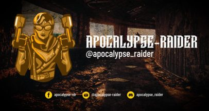 Twitch Banner Creator Featuring a Pos-Apocalyptic Character 1964c