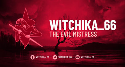 Horror Twitch Banner Design Maker with an Evil Witch Character 1964g