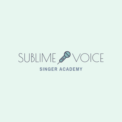 Logo Design Template for a Music Academy Featuring a Microphone Clipart 1291i-96-el