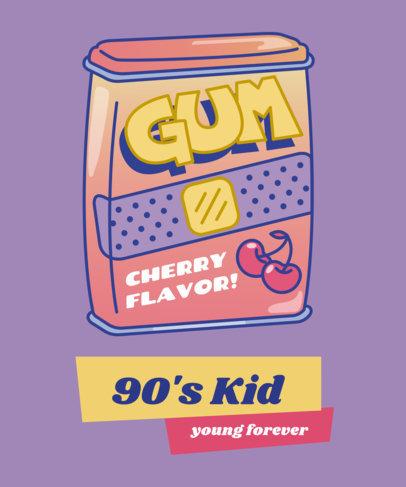 Retro T-Shirt Design Maker Featuring 90s Illustrations 1963