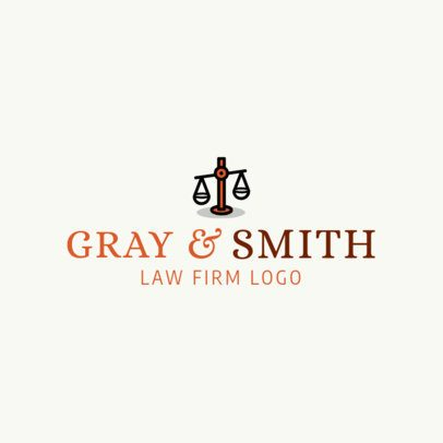 Simple Logo Generator for a Law Firm 1194i 60-el