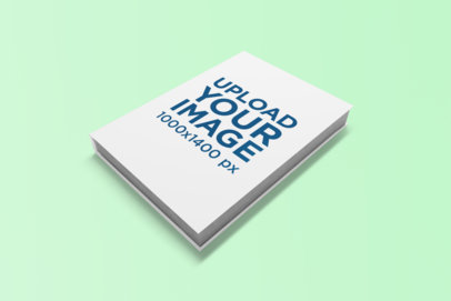 Mockup of a Book Placed on a Solid Color Surface 849-el