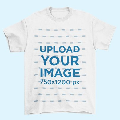 Mockup of a T-Shirt Lying Flat on a Color-Customizable Surface 208-el