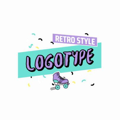 Online Logo Maker Featuring a Retro Roller Skate 2628a