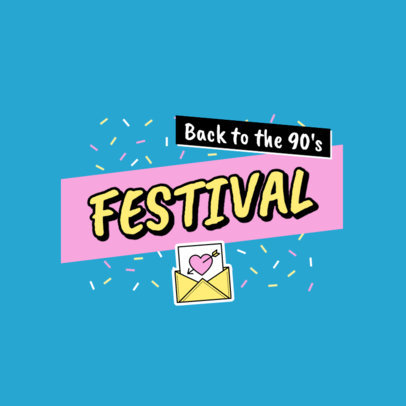 Logo Generator for a 90's Festival or Party 2628g