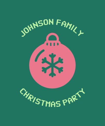 Christmas Tee Design Maker for a Family 831f-112-el