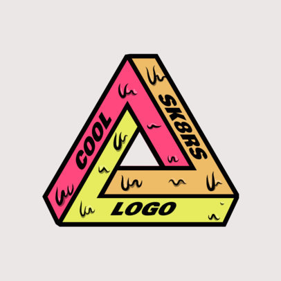 Online Logo Maker with a Sticky-Looking Geometrical Shape 2649b