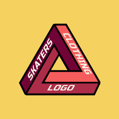 Skate Clothing Logo Generator with a Geometric Shape Clipart 2649f