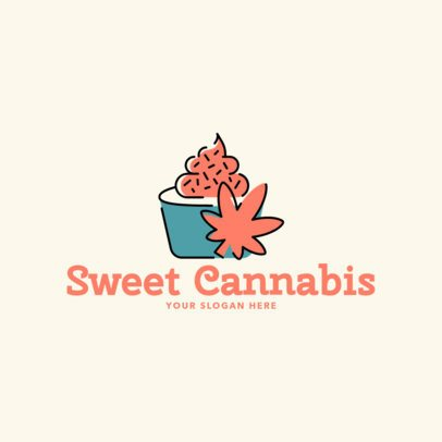 Logo Maker for a Cannabis Desserts Market 2648a