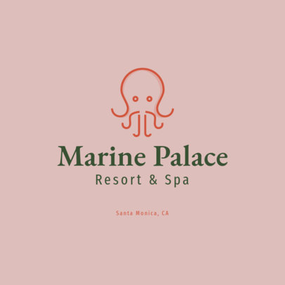 Minimal Logo Maker for a Spa Resort 1761i 106-el