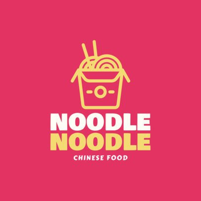 Food Logo Maker with a Minimalistic Noodle Box Clipart 1029g-55-el